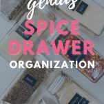 spice jars with labels with text overlay