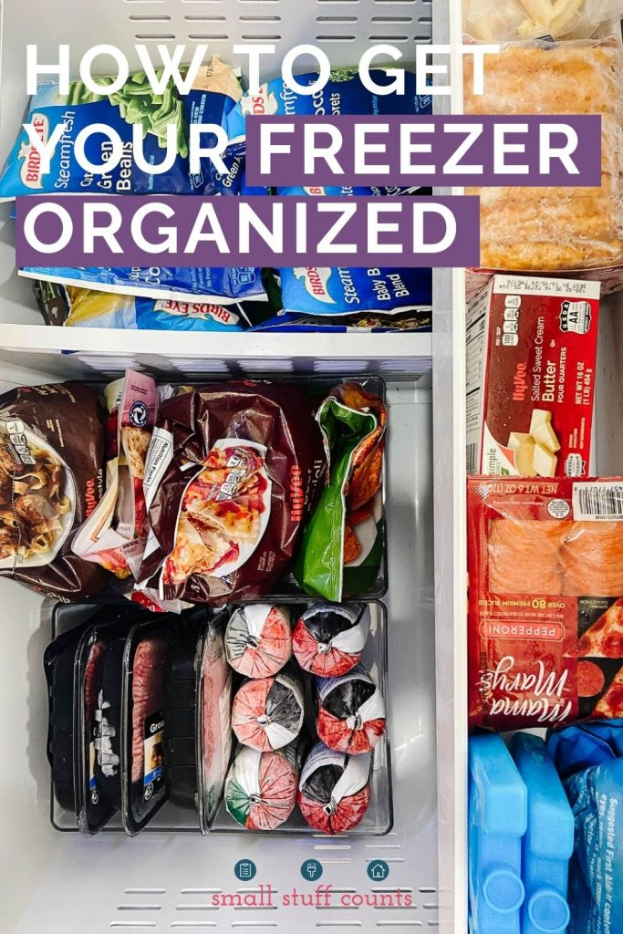 image of a freezer drawer with text overlay