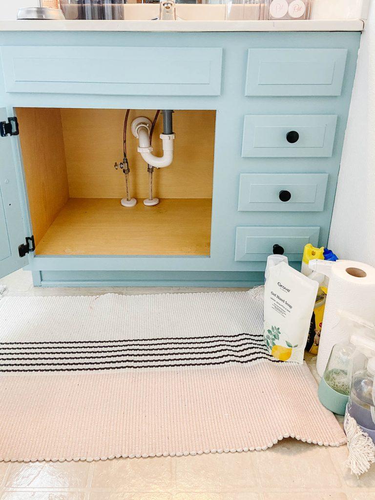 empty bathroom vanity cabinet