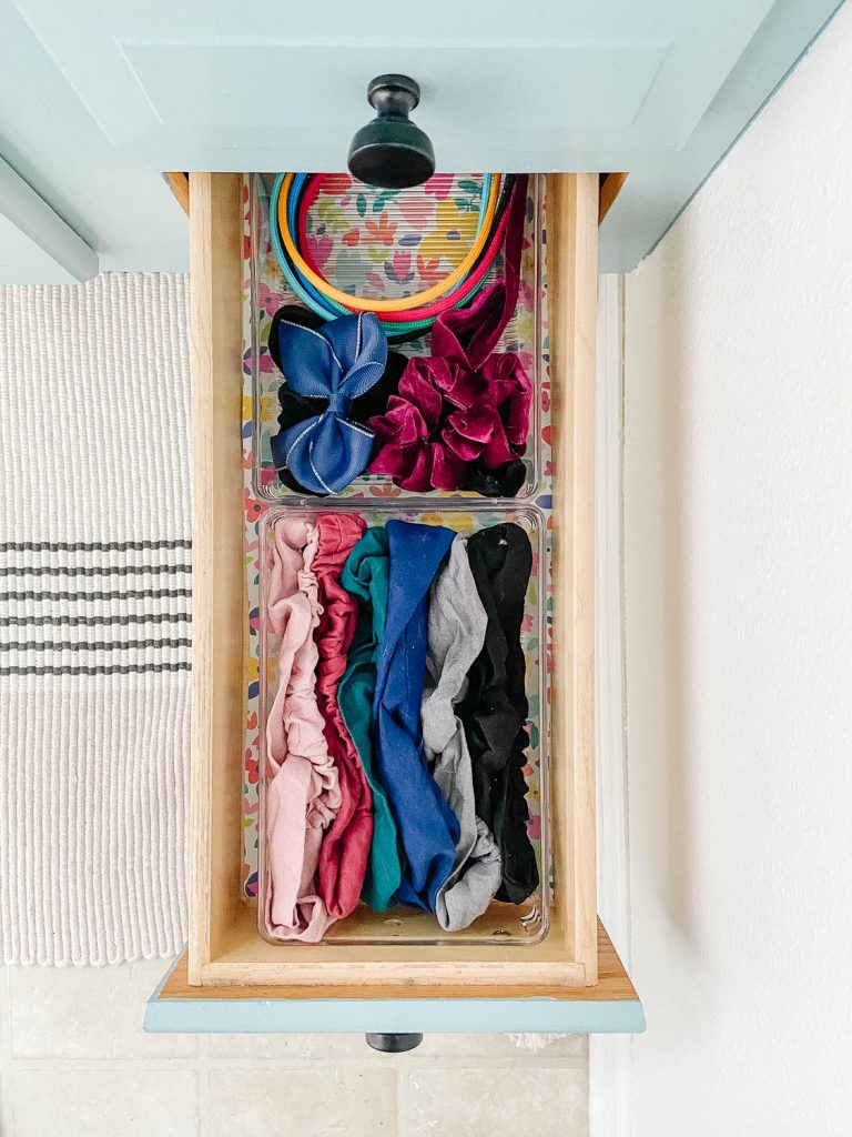 drawer with hair accessories