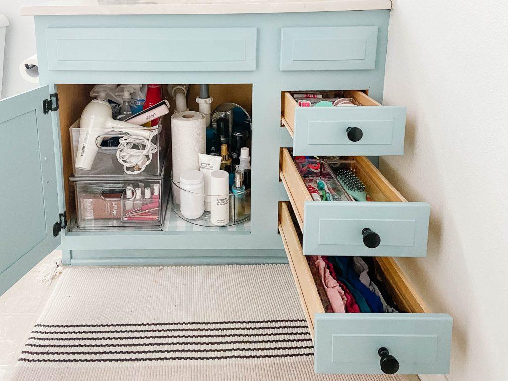 image of organized bathroom vanity