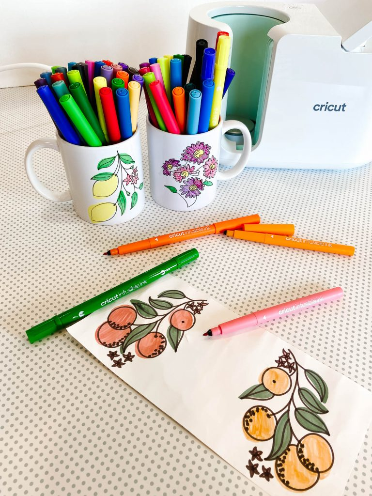 2 DIY mugs with Infusible Ink markers
