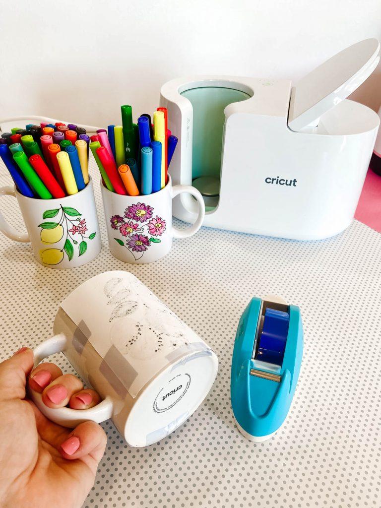 Wrapping design around a mug to put in Cricut Mug Press
