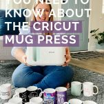 woman with crafted mugs and text overlay