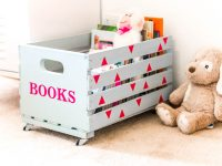 DIY Rolling Book Crate (Thrift Store Craft)