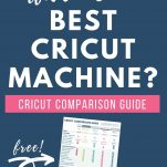 """navy background with white text saying """"Which is the best cricut machine?"""""""
