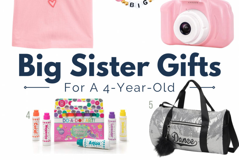 big sister gift ideas collage